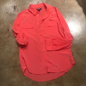 Old Navy Blouse Bright Coral Small